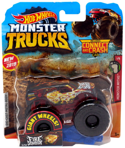 Hot Wheels Monster Trucks HW Demo Derby Fire Starter Die-Cast Car