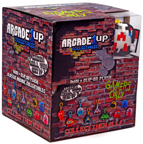 Plush Clip On Retro Arcade 2.5-Inch Mystery Box [24 Packs]