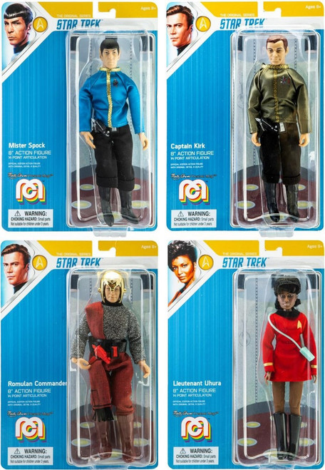Star Trek Spock, Kirk, Uhura & Romulan Commander Set of 4 Action Figures