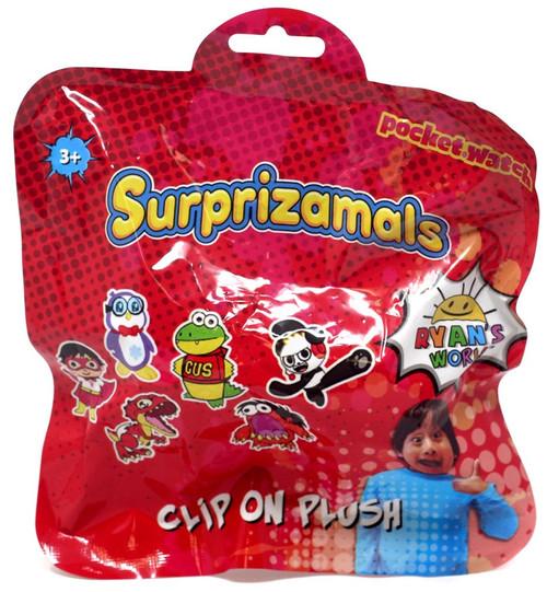 Ryan's World Clip on Plush Surprizamals Mystery Pack