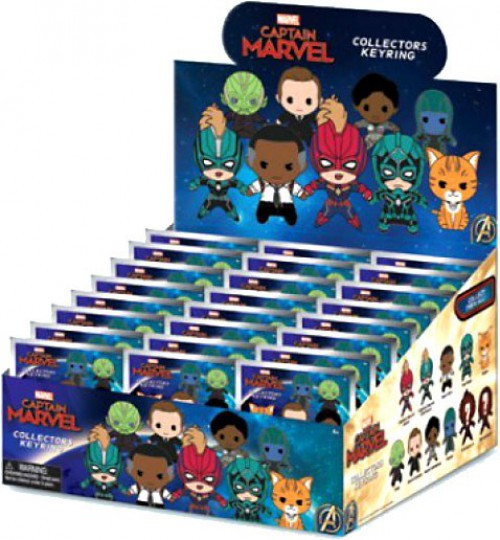 3D Figural Foam Bag Clip Captain Marvel Mystery Box [24 Packs]