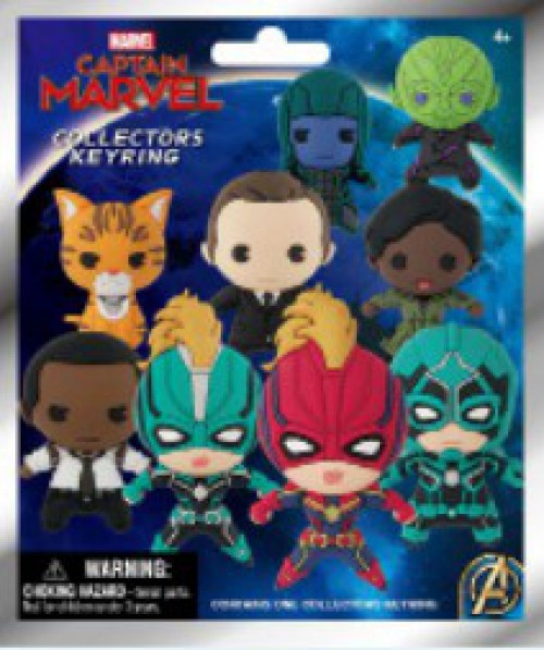 3D Figural Foam Bag Clip Captain Marvel Mystery Pack