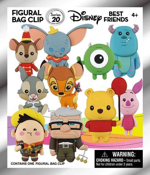 Disney 3D Figural Foam Bag Clip Series 20 Friends Mystery Pack [1 RANDOM Figure]