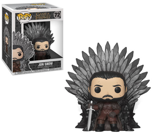 Funko Game of Thrones POP! TV Jon Snow Deluxe Vinyl Figure #72 [Sitting On Iron Throne]