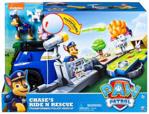 Paw Patrol Chase's Ride N Rescue Transforming Police Vehicle Playset