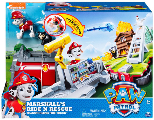 Paw Patrol Marshall's Ride N Rescue Transforming Fire Truck Vehicle Playset