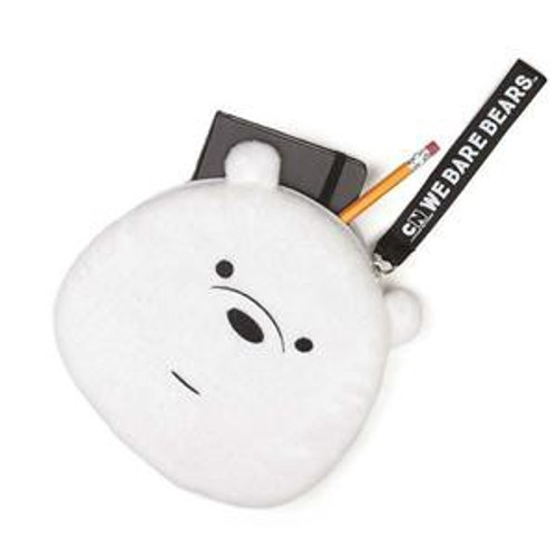 We Bare Bears Ice Bear 7-Inch Plush Zippered Pouch