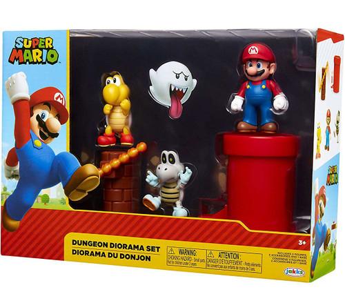 World of Nintendo Super Mario Dungeon 2.5-Inch Diorama Gift Set [Mario, Koopa Troopa & Dry Bones]