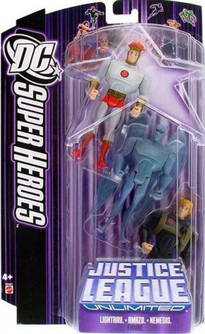 DC Justice League Unlimited Super Heroes Lightray, Amazo & Nemesis Action Figures