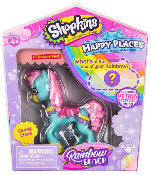 Shopkins Happy Places Season 5 Rainbow Beach Candy Clops Lil' Unicorn Pack