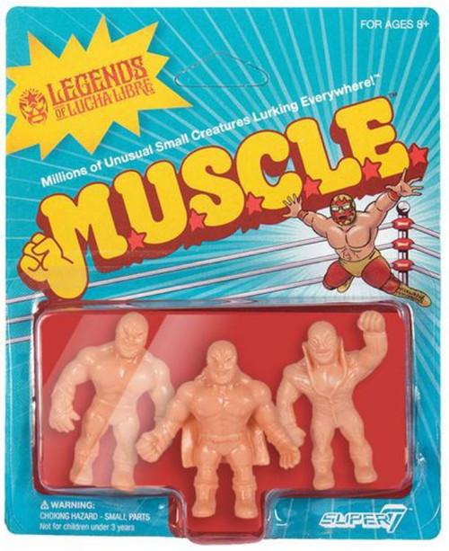 Legends of Lucha Libre M.U.S.C.L.E. Konnan, Solar, & Super Astro 3.75-Inch Figure 3-Pack [Pack B]