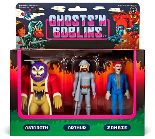ReAction Ghost n' Goblins Arthur, Astaroth & Zombie Action Figure 3-Pack
