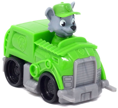 Paw Patrol Rescue Racer Rocky in Recycle Truck Figure [Figure Does Not Come Out! Version 2]