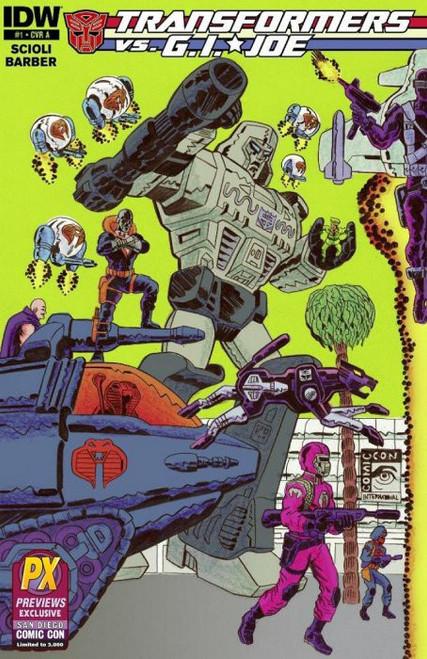 IDW Publishing Transformers Vs. GI Joe #1 Comic Book [Diamond Previews SDCC Cover A]