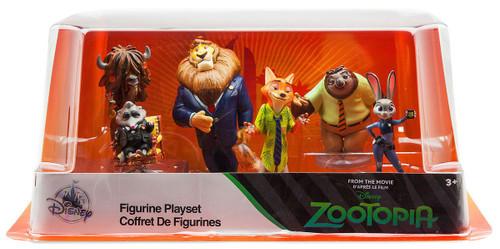 Disney Zootopia Exclusive 6-Piece PVC Figure Play Set [Judy, Nick, Mayor Lionheart, Flash, Yax & Mr. Big ]