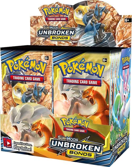Pokemon Trading Card Game Sun & Moon Unbroken Bonds Booster Box [36 Packs]