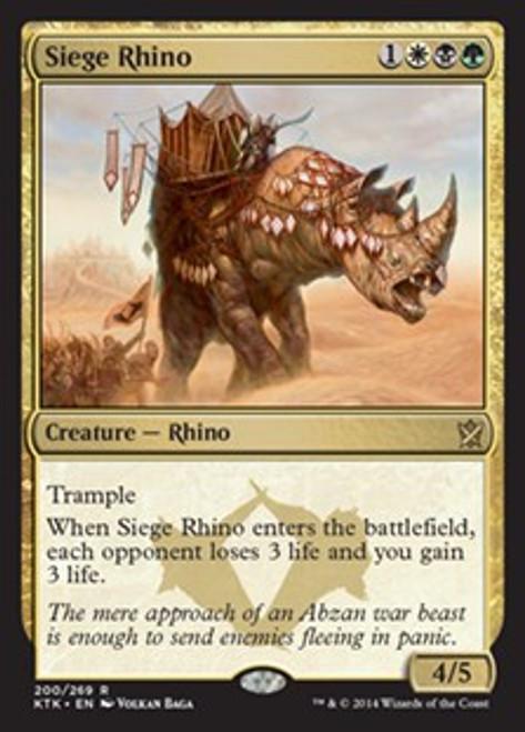 MtG Khans of Tarkir Rare Foil Siege Rhino #200