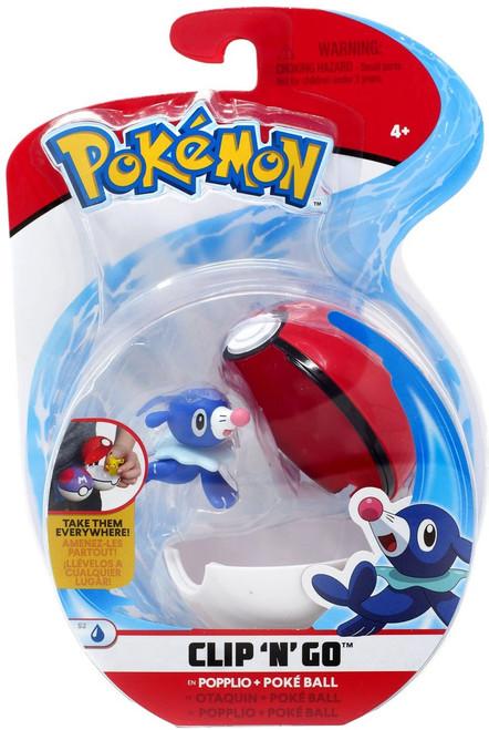 Pokemon Clip 'N' Go Popplio & Poke Ball Figure Set