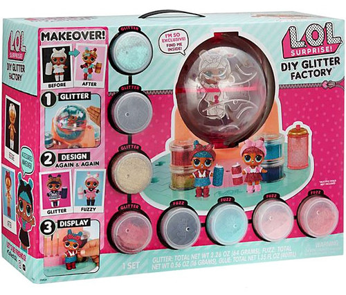 LOL Surprise Makeover DIY Glitter Factory Playset