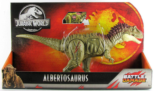 Jurassic World Fallen Kingdom Battle Damage Albertosaurus Action Figure