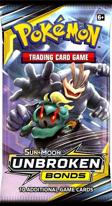 Pokemon Trading Card Game Sun & Moon Unbroken Bonds Booster Pack [10 Cards]