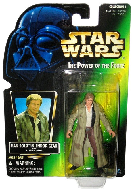Star Wars Return of the Jedi Power of the Force POTF2 Collection 1 Han Solo Action Figure [Hologram Card]