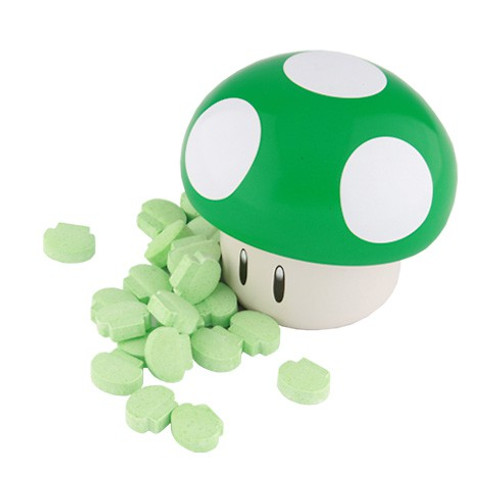 Nintendo New Super Mario Bros. Mushroom Sours .9 oz Candy Tin [Green]