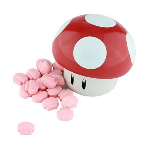 Nintendo New Super Mario Bros. Mushroom Sours .9 Ounce Candy Tin [Red]