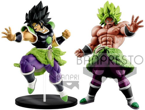 Dragon Ball Super - Broly Movie Ultimate Soldiers Broly & Super Saiyan Broly Full Power Set of 2 Collectible PVC Figures