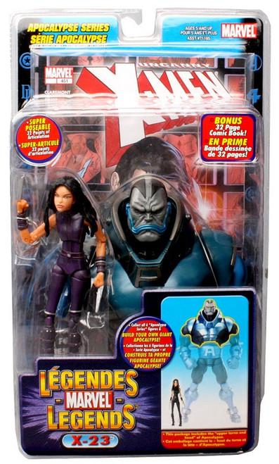 Marvel Legends Series 12 Apocalypse X-23 Action Figure [Purple Suit, Damaged Package]