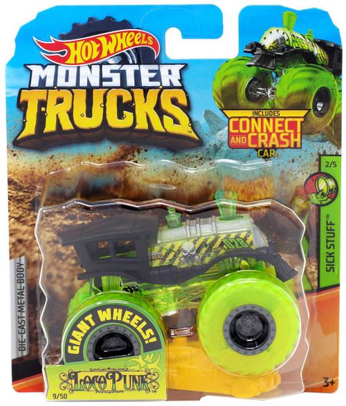 Hot Wheels Monster Trucks Sick Stuff Loco Punk Die-Cast Car #2/5