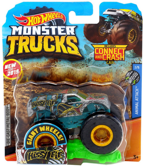 Hot Wheels Monster Trucks Animal Attack Hissy Fit Diecast Car #2/5