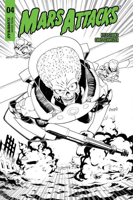 Dynamite Entertainment Mars Attacks #4 Comic Book [Coleman Black & White Cover]