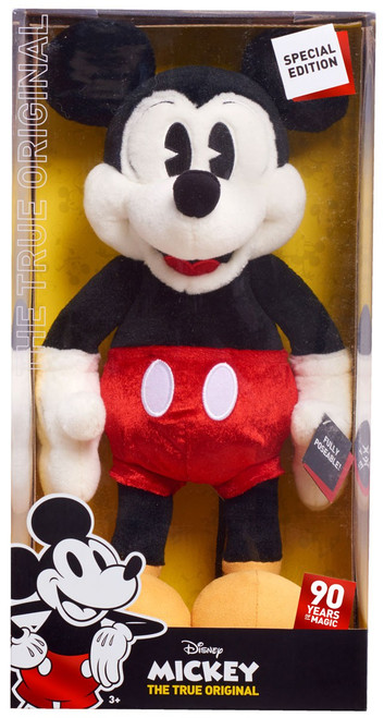 Disney Mickey the True Original 90 Years of Magic Mickey Mouse 15-Inch Plush [Poseable]