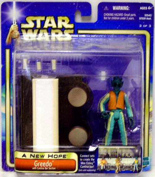 Star Wars A New Hope Saga 2002 Greedo Exclusive Action Figure [With Cantina Bar Section]