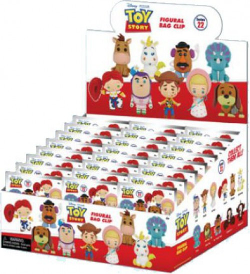 3D Figural Foam Bag Clip Disney Series 22 Toy Story Classic Mystery Box [24 Packs]