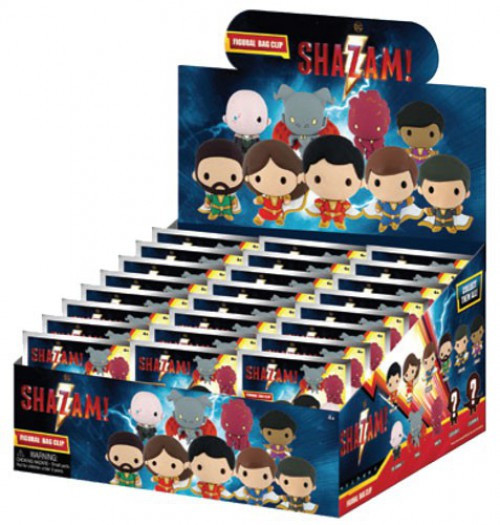 DC 3D Figural Foam Bag Clip Shazam Mystery Box [24 Packs]