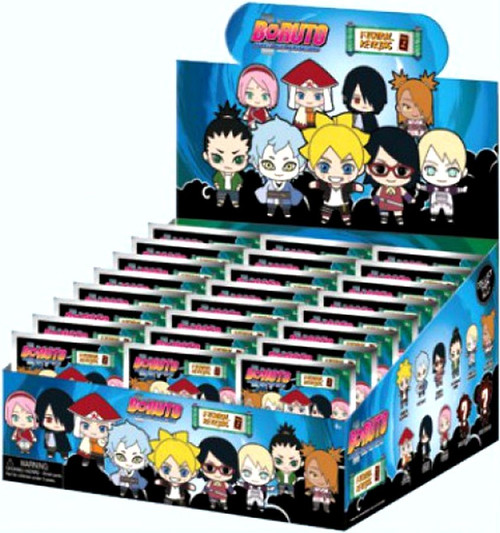 3D Figural Foam Bag Clip Boruto Mystery Box [24 Packs]