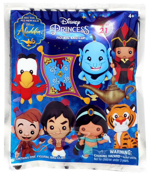 3D Figural Foam Bag Clip Disney Series 21 Aladdin Mystery Pack