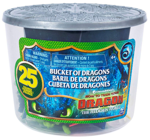 How to Train Your Dragon The Hidden World Bucket of Dragons 25 Figures