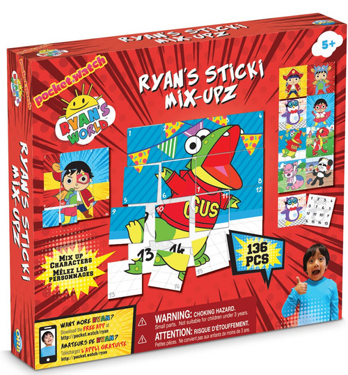 Ryan's World Sticki Mix-Upz Play Set