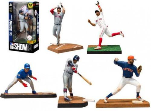 McFarlane Toys MLB The Show 19 Betts, Martinez, Altuve, Baez, Lindor & Judge Set of 6 Action Figures