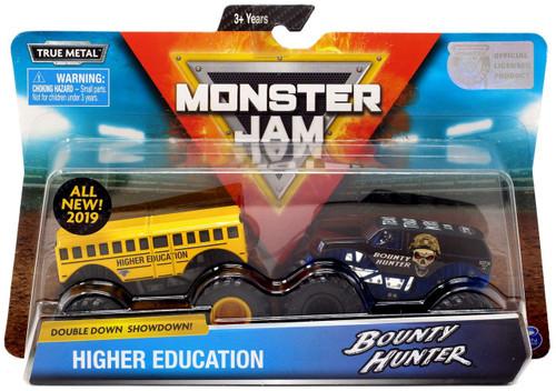 Monster Jam Double Down Showdown! Higher Education & Bounty Hunter Diecast Car 2-Pack