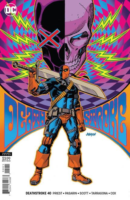 DC Deathstroke #40 Arkham Comic Book [Dave Johnson Variant]