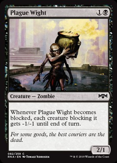 MtG Ravnica Allegiance Common Plague Wight #82