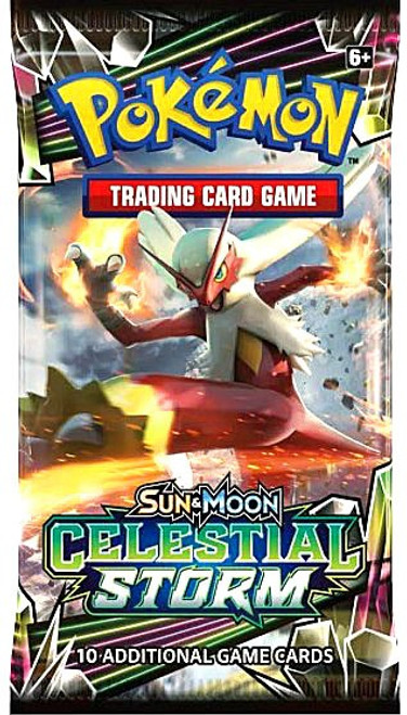 Pokemon Trading Card Game Sun & Moon Celestial Storm Booster Pack [10 Cards]