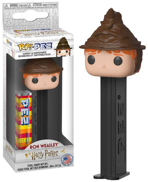 Funko Harry Potter POP! PEZ Ron Weasley Candy Dispenser [Sorting Hat]