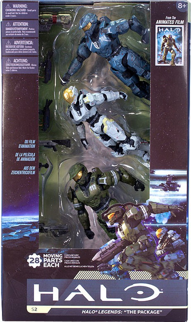 McFarlane Toys Series 2 Halo Legends: The Package Action Figure 3-Pack [Damaged Package]