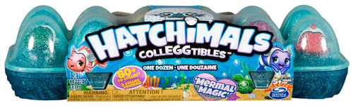 Hatchimals Colleggtibles Season 5 Mermal Magic Mystery 12-Pack [Dozen, Aqua Blue Egg Carton]