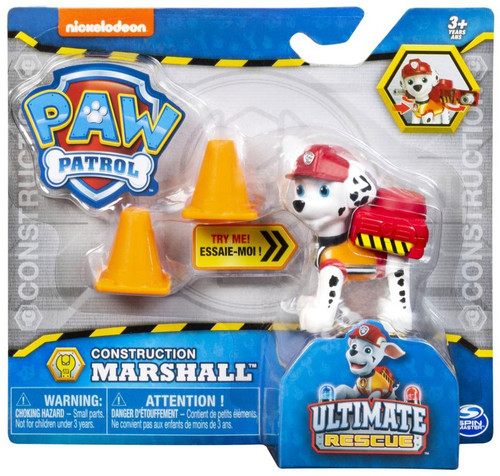 Paw Patrol Ultimate Rescue Construction Marshall Figure